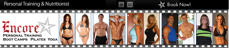 Encore Personal Training, Boot Camps, Pilates and Yoga header. Great Personal Trainers in Las Vegas
